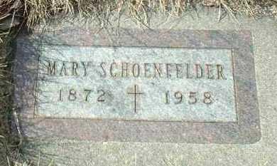 SCHOENFELDER, MARY - Hutchinson County, South Dakota | MARY SCHOENFELDER - South Dakota Gravestone Photos