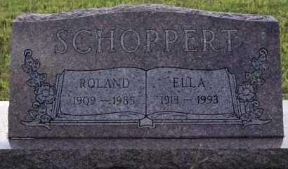SCHOPPERT, ELLA - Hutchinson County, South Dakota | ELLA SCHOPPERT - South Dakota Gravestone Photos