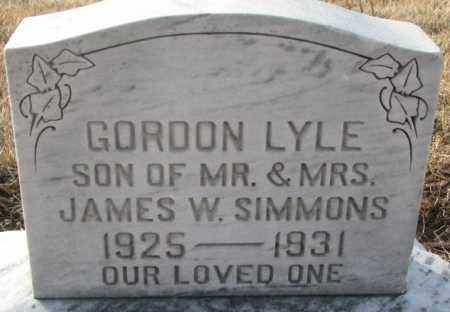 SIMMONS, GORDON LYLE - Hutchinson County, South Dakota | GORDON LYLE SIMMONS - South Dakota Gravestone Photos