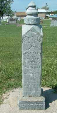 SOMMER, ELIZABETH - Hutchinson County, South Dakota | ELIZABETH SOMMER - South Dakota Gravestone Photos