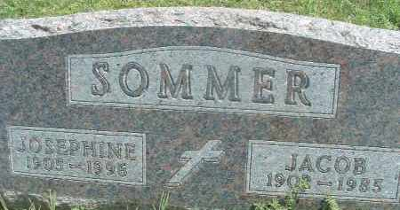 SOMMER, JOSEPHINE - Hutchinson County, South Dakota | JOSEPHINE SOMMER - South Dakota Gravestone Photos