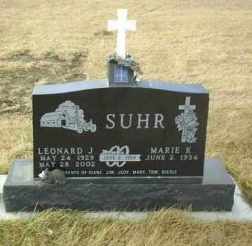 SUHR, MARIE - Hutchinson County, South Dakota   MARIE SUHR - South Dakota Gravestone Photos
