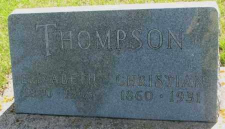 THOMPSON, ELIZABETH - Hutchinson County, South Dakota | ELIZABETH THOMPSON - South Dakota Gravestone Photos