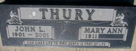 THURY, MARY - Hutchinson County, South Dakota | MARY THURY - South Dakota Gravestone Photos