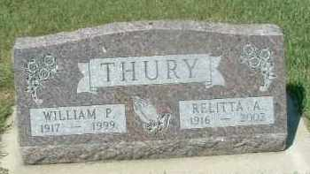 THURY, WILLIAM P. - Hutchinson County, South Dakota | WILLIAM P. THURY - South Dakota Gravestone Photos