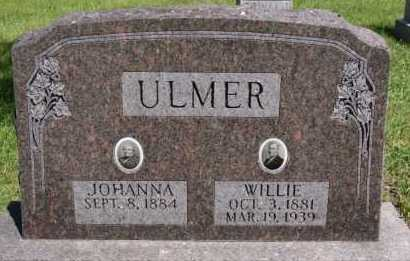 ULMER, WILLIE - Hutchinson County, South Dakota | WILLIE ULMER - South Dakota Gravestone Photos