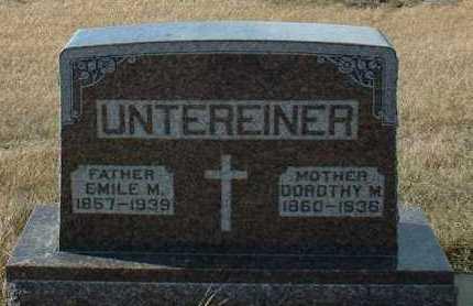 UNTEREINER, EMILE - Hutchinson County, South Dakota | EMILE UNTEREINER - South Dakota Gravestone Photos