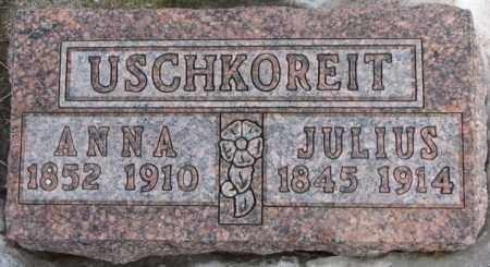 USCHKOREIT, JULIUS - Hutchinson County, South Dakota | JULIUS USCHKOREIT - South Dakota Gravestone Photos