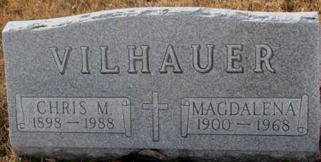 VILHAUER, MAGDALENA - Hutchinson County, South Dakota | MAGDALENA VILHAUER - South Dakota Gravestone Photos