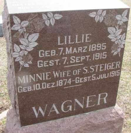 WAGNER STEIGER, MINNIE - Hutchinson County, South Dakota | MINNIE WAGNER STEIGER - South Dakota Gravestone Photos