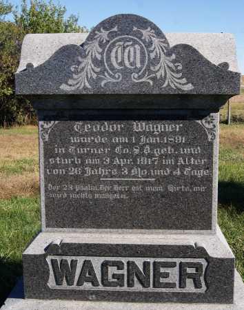 WAGNER, TEODOR - Hutchinson County, South Dakota | TEODOR WAGNER - South Dakota Gravestone Photos