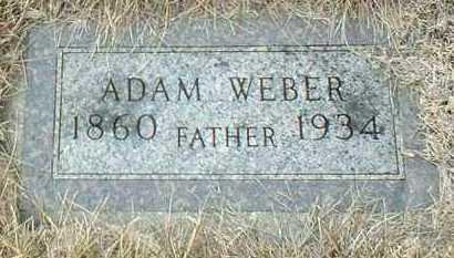 WEBER, ADAM - Hutchinson County, South Dakota | ADAM WEBER - South Dakota Gravestone Photos