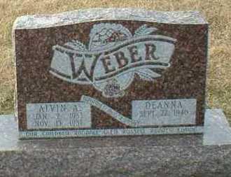 WEBER, ALVIN - Hutchinson County, South Dakota | ALVIN WEBER - South Dakota Gravestone Photos