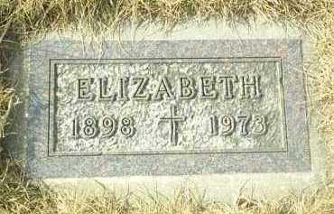 WEBER, ELIZABETH - Hutchinson County, South Dakota | ELIZABETH WEBER - South Dakota Gravestone Photos