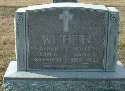 WEBER, MARIA - Hutchinson County, South Dakota | MARIA WEBER - South Dakota Gravestone Photos