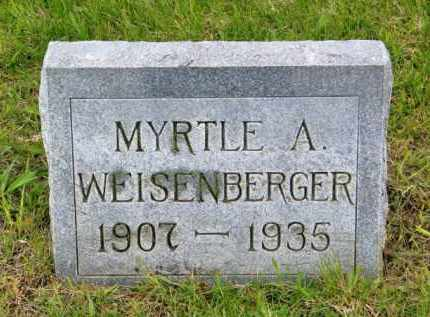 WEISENBERGER, MYRTLE A. - Hutchinson County, South Dakota | MYRTLE A. WEISENBERGER - South Dakota Gravestone Photos