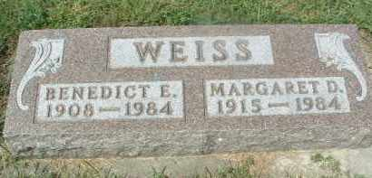 WEISS, BENEDICT E. - Hutchinson County, South Dakota | BENEDICT E. WEISS - South Dakota Gravestone Photos
