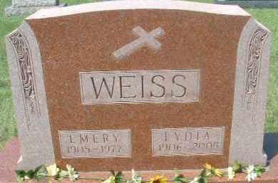 WEISS, LYDIA - Hutchinson County, South Dakota | LYDIA WEISS - South Dakota Gravestone Photos