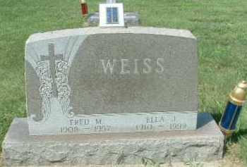 WEISS, FRED M. - Hutchinson County, South Dakota | FRED M. WEISS - South Dakota Gravestone Photos