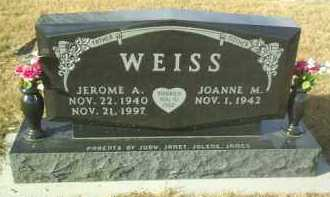 WEISS, JOANNE M. - Hutchinson County, South Dakota | JOANNE M. WEISS - South Dakota Gravestone Photos