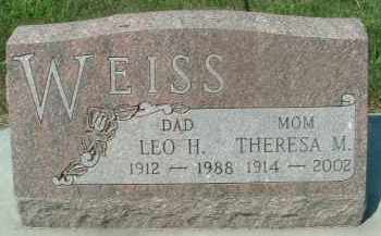 WEISS, THERESA M. - Hutchinson County, South Dakota | THERESA M. WEISS - South Dakota Gravestone Photos