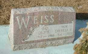 WEISS, LEO - Hutchinson County, South Dakota | LEO WEISS - South Dakota Gravestone Photos