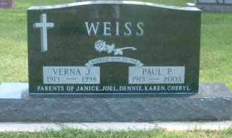 WEISS, VERNA J. - Hutchinson County, South Dakota   VERNA J. WEISS - South Dakota Gravestone Photos