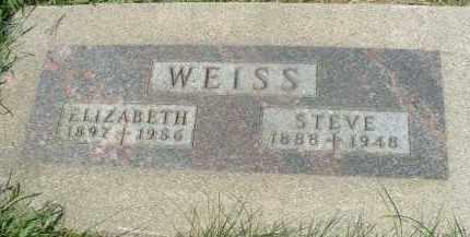 WEISS, ELIZABETH - Hutchinson County, South Dakota | ELIZABETH WEISS - South Dakota Gravestone Photos