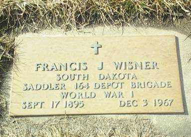 WISNER, FRANCIS - Hutchinson County, South Dakota | FRANCIS WISNER - South Dakota Gravestone Photos