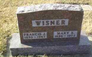 WISNER, FRANCIS - Hutchinson County, South Dakota   FRANCIS WISNER - South Dakota Gravestone Photos