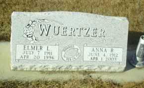WUERTZER, ANNA - Hutchinson County, South Dakota | ANNA WUERTZER - South Dakota Gravestone Photos