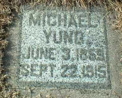 YUNG, MICHAEL - Hutchinson County, South Dakota | MICHAEL YUNG - South Dakota Gravestone Photos