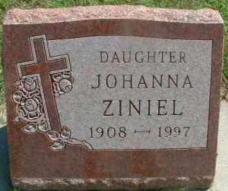 ZINIEL, JOHANNA - Hutchinson County, South Dakota | JOHANNA ZINIEL - South Dakota Gravestone Photos