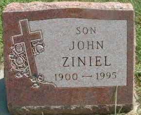 ZINIEL, JOHN - Hutchinson County, South Dakota | JOHN ZINIEL - South Dakota Gravestone Photos
