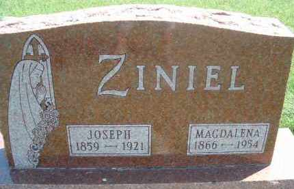 ZINIEL, JOSEPH - Hutchinson County, South Dakota | JOSEPH ZINIEL - South Dakota Gravestone Photos