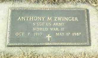 ZWINGER, ANTHONY - Hutchinson County, South Dakota | ANTHONY ZWINGER - South Dakota Gravestone Photos