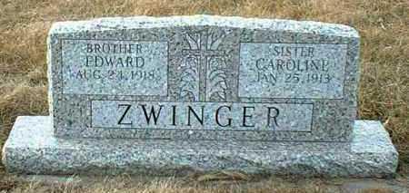 ZWINGER, CAROLINE - Hutchinson County, South Dakota | CAROLINE ZWINGER - South Dakota Gravestone Photos