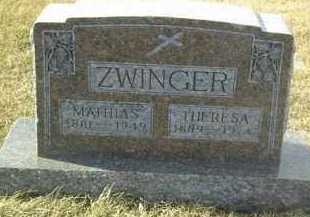ZWINGER, MATHIAS - Hutchinson County, South Dakota | MATHIAS ZWINGER - South Dakota Gravestone Photos