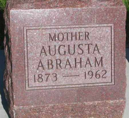 ABRAHAM, AUGUSTA - Jerauld County, South Dakota | AUGUSTA ABRAHAM - South Dakota Gravestone Photos