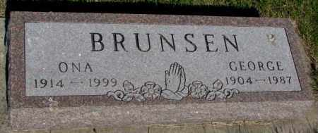 BRUNSEN, GEORGE - Jerauld County, South Dakota | GEORGE BRUNSEN - South Dakota Gravestone Photos