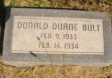 BULT, DONALD DUANE - Jerauld County, South Dakota   DONALD DUANE BULT - South Dakota Gravestone Photos