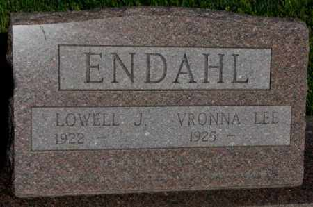 ENDAHL, LOWELL J. - Jerauld County, South Dakota | LOWELL J. ENDAHL - South Dakota Gravestone Photos