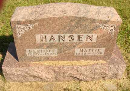 HANSEN, MATTIE - Jerauld County, South Dakota | MATTIE HANSEN - South Dakota Gravestone Photos