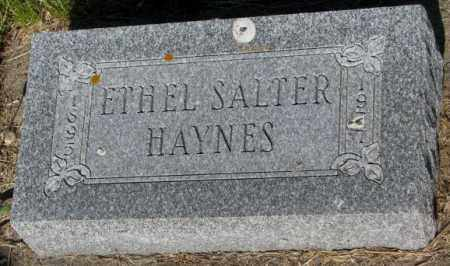 SALTER HAYNES, ETHEL - Jerauld County, South Dakota | ETHEL SALTER HAYNES - South Dakota Gravestone Photos