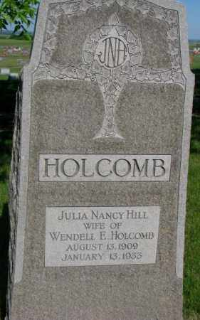 HILL HOLCOMB, JULIA NANCY - Jerauld County, South Dakota | JULIA NANCY HILL HOLCOMB - South Dakota Gravestone Photos