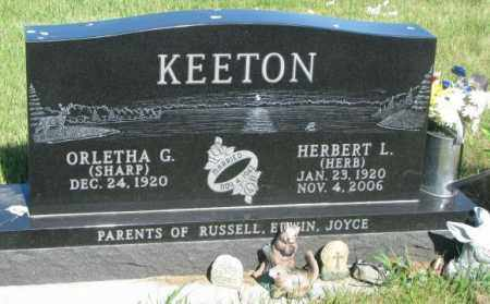 SHARP KEETON, ORLETHA G. - Jerauld County, South Dakota | ORLETHA G. SHARP KEETON - South Dakota Gravestone Photos