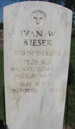 KIESER, IVAN W. - Jerauld County, South Dakota   IVAN W. KIESER - South Dakota Gravestone Photos