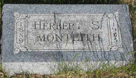 MONTEITH, HERBERT S. - Jerauld County, South Dakota | HERBERT S. MONTEITH - South Dakota Gravestone Photos