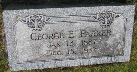 PARKER, GEORGE E. - Jerauld County, South Dakota | GEORGE E. PARKER - South Dakota Gravestone Photos