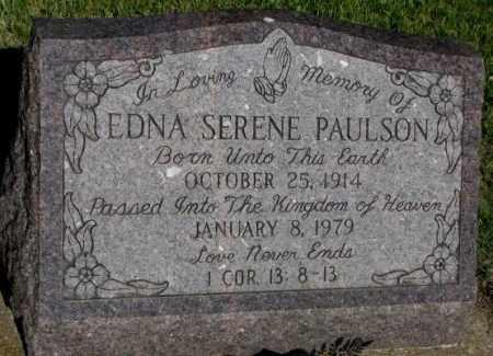 PAULSON, EDNA SERENE - Jerauld County, South Dakota | EDNA SERENE PAULSON - South Dakota Gravestone Photos